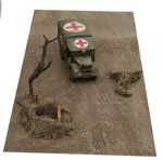 "FM8 Mud Mat with Diagonal Tracks 12"" x 29"" rubber mat cut to shape (Accessories not Incl)"